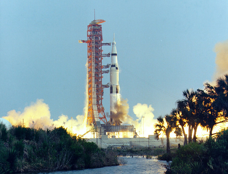 Launched on the day I was born, Apollo 13 intended to land on the Moon. But the lunar landing was aborted after an oxygen tank exploded two days later. Despite extreme hardship, the crew returned safely to Earth four days after that. Their flight passed the far side of the Moon at an altitude of 254 kilometers above the lunar surface, and 400,171 km from Earth, a spaceflight record marking the farthest humans have ever traveled from Earth.